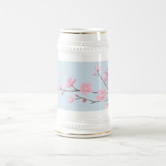 Cherry Blossom - Transparent-Background Beer Stein