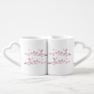 Cherry Blossom - Transparent Background Coffee Mug Set