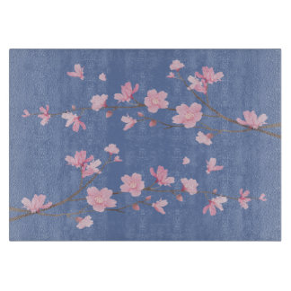 Cherry Blossom - Transparent Background Cutting Board