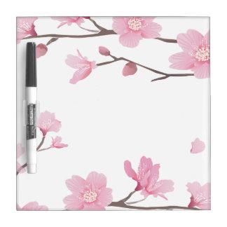 Cherry Blossom - Transparent Background Dry Erase Board