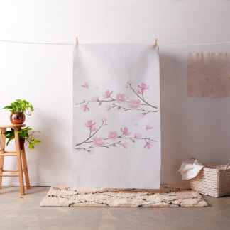 Cherry Blossom - Transparent Background Fabric