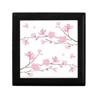 Cherry Blossom - Transparent-Background Gift Box