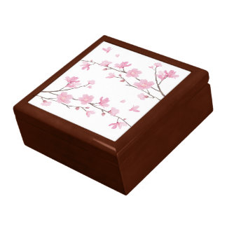 Cherry Blossom - Transparent Background Gift Box