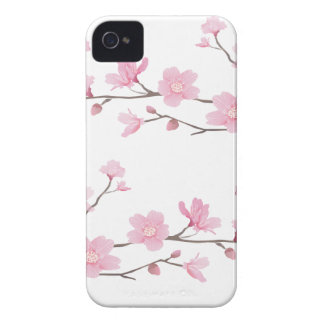 Cherry Blossom - Transparent-Background iPhone 4 Cover