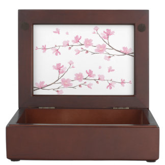 Cherry Blossom - Transparent Background Keepsake Box