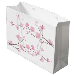 Cherry Blossom - Transparent Background Large Gift Bag