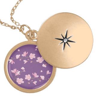 Cherry Blossom - Transparent-Background Locket Necklace