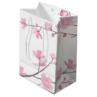 Cherry Blossom - Transparent Background Medium Gift Bag