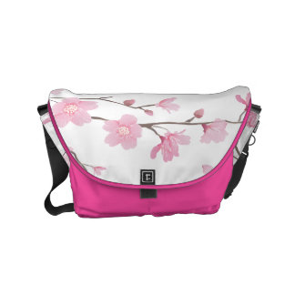 Cherry Blossom - Transparent Background Messenger Bag