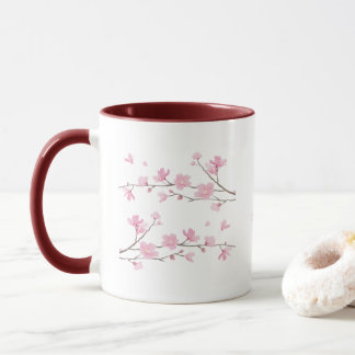 Cherry Blossom - Transparent Background Mug