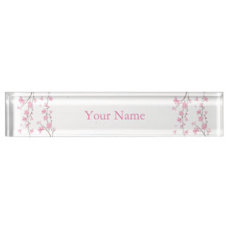 Cherry Blossom - Transparent Background Name Plate