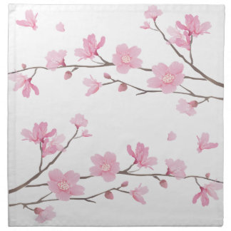 Cherry Blossom - Transparent-Background Napkin