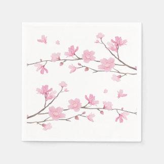 Cherry Blossom - Transparent Background Paper Napkin