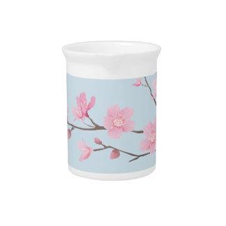 Cherry Blossom - Transparent-Background Pitcher