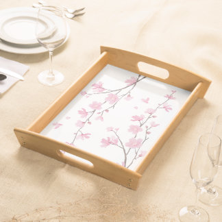 Cherry Blossom - Transparent Background Serving Tray