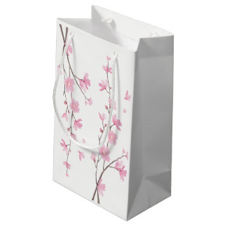 Cherry Blossom - Transparent Background Small Gift Bag