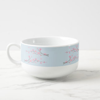 Cherry Blossom - Transparent Background Soup Mug