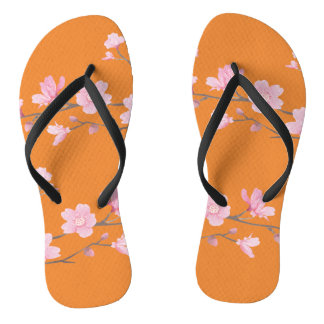Cherry Blossom - Transparent Background Thongs