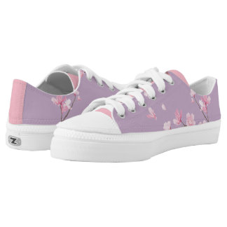 Cherry Blossom - Transparent Low Tops