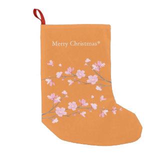 Cherry Blossom - Transparent - Merry Christmas Small Christmas Stocking
