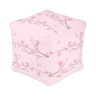 Cherry Blossom - Transparent Pouf