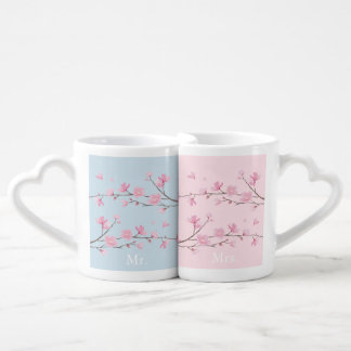 Cherry Blossom - Transparent - Wedding Coffee Mug Set