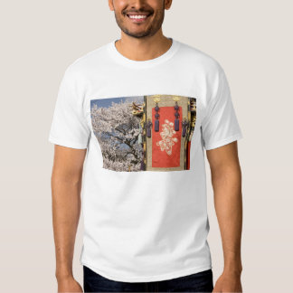 Cherry blossom tree and silk tapestry of shirts