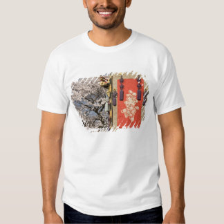 Cherry blossom tree and silk tapestry of t-shirts