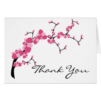 Cherry Blossom Tree Branch Customizable Card