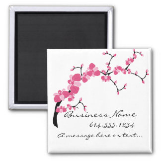 Cherry Blossom Tree Branch Customizable Magnet 2