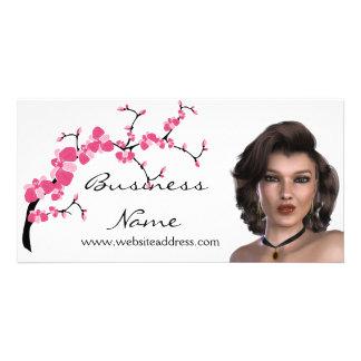 Cherry Blossom Tree Branch Customizable Photo Card