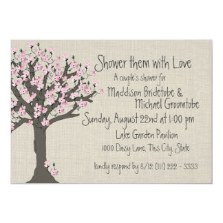 Cherry Blossom Tree Couples Shower Card