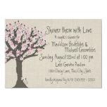 Cherry Blossom Tree Couples Shower 13 Cm X 18 Cm Invitation Card