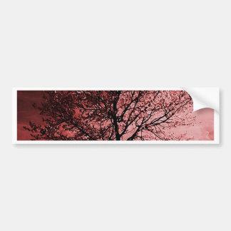 Cherry Blossom Tree Painting - Pink Bumper Sticker