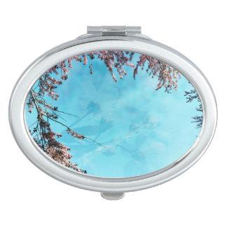 Cherry Blossom Vignette Oval Compact Mirror