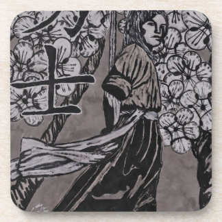 Cherry Blossom Warrior by Carter L Shepard Coaster