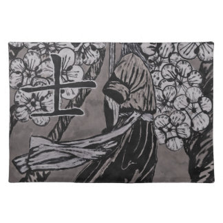 Cherry Blossom Warrior by Carter L Shepard Placemat