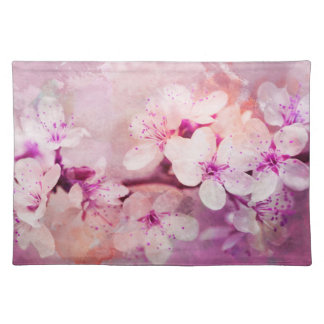 Cherry Blossom Watercolor Art Placemat