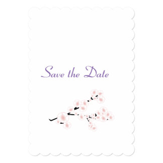 Cherry Blossom Wedding Day Theme Save the Date Card