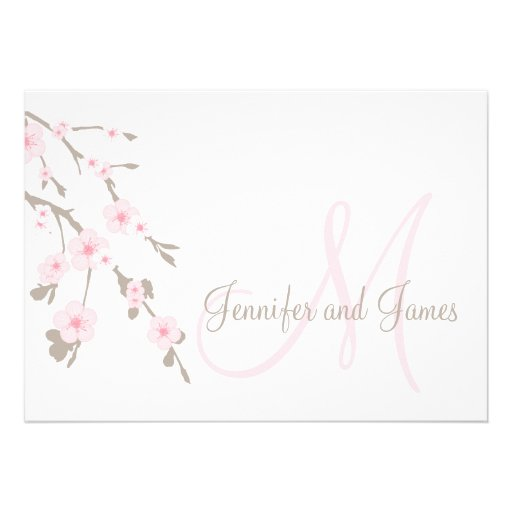 Cherry Blossom Wedding Invitation Landscape