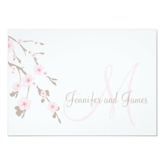 Cherry Blossom Wedding Invitation Landscape