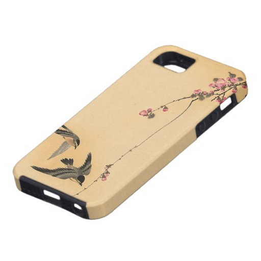 Cherry blossom with birds by Ohara Koson iPhone 5 Cases