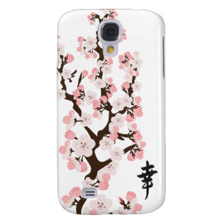 Cherry Blossoms and Kanji 3G/3GS  Samsung Galaxy S4 Cover