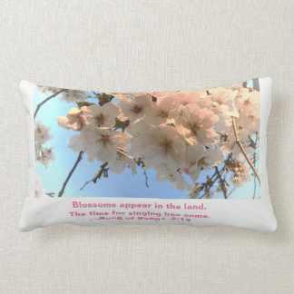 Cherry Blossoms and Song of Songs Pillow