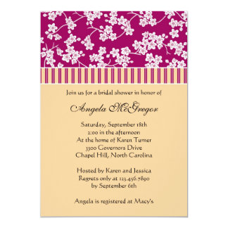 Cherry Blossoms and Stripes Card