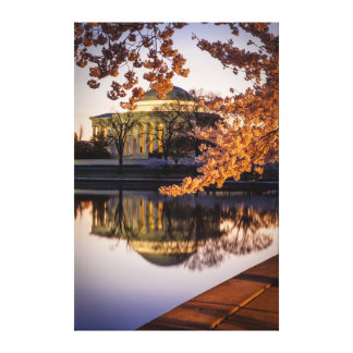 Cherry Blossoms And The Jefferson Memorial 2 Canvas Print