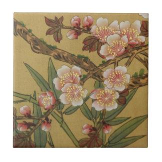 Cherry Blossoms Asian Japanese Art Ceramic Tile