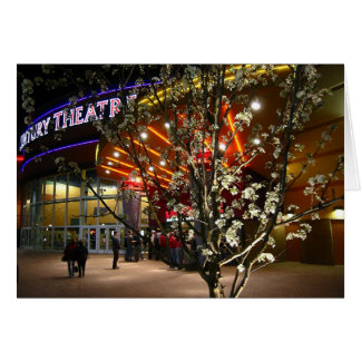 Cherry Blossoms at the Movie Theater Card