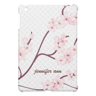 Cherry Blossoms Branch on Polka Dots iPad Mini Cases