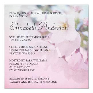 Cherry Blossoms Bridal Shower 13 Cm X 13 Cm Square Invitation Card